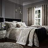 Catherine Lansfield – Tagesdecke für Doppelbett aus Knautschsamt-Imitat – Polyester, Polyester, Silber, 53 x 23 x 53 cm
