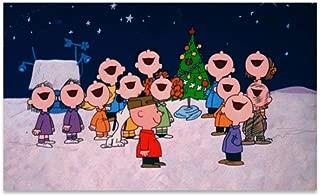 BANDAO Charlie Brown Christmas Eve Super Absorbent Durable Rubber Entrance Doormat Non-Slip Backing Rug Indoor Outdoor Welcome Doormats Non-Woven Fabric