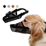 TANDD Dog Muzzle Soft Nylon Muzzle, Adjustable Breathable Mesh Dog Muzzle for Anti-Biting Anti-Barking Licking