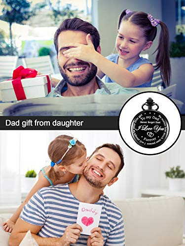 Dad Gift from Daughter to Father Engraved Pocket Watch – No Matter How Much Time Passes, I Will Always Be Your Little Girl