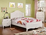 Furniture of America Lionel Size Youth Bedroom, Twin, White