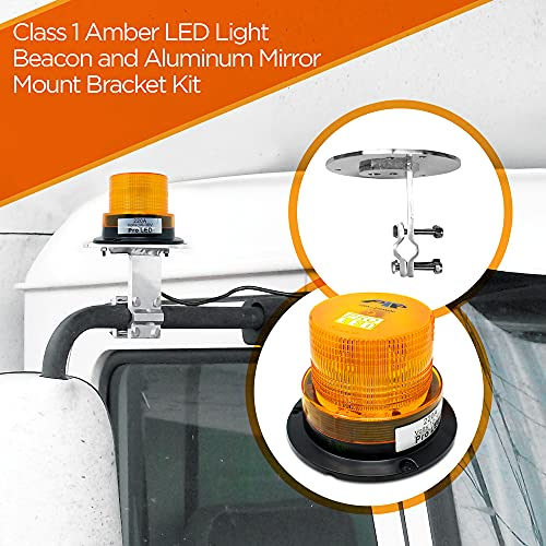 220ABRK1KIT Amber LED Warning Light Beacon, Mirror Mount Combo