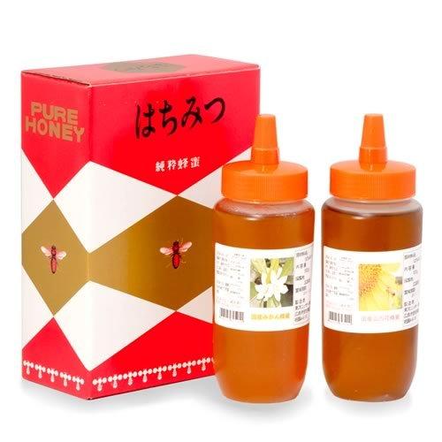 広島県産の2種類 みかん蜂蜜&山の花蜂蜜各500g×2本入りお徳パック はちみつ ハチミツ