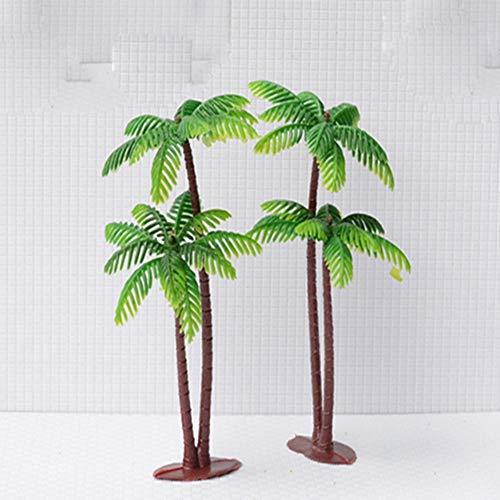 Egurs Modelle Bäume 10STK 13,5 cm Künstliche Tropischer Kokosnussbaum DIY handgemachter Sandkasten Gebäudemodell Mikrolandschaft
