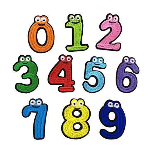 SUPVOX 10 Piezas Parche Ropa Número Niños Parches