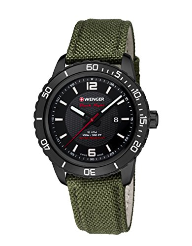 Wenger Roadster Black Night 01.0851.125 - Reloj de pulsera unisex, Negro