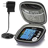 Vive Precision Blood Pressure Cuff - Heart Rate Monitor Machine - Automatic BPM Sphygmomanometer Heartbeat Measurements for Hypertension Diagnosis, Accurate Pulse Readings (Black, Deluxe Model)