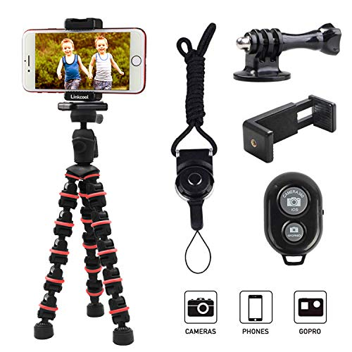 Phone Tripod, Linkcool Octopus Tripod with Wireless Remote Phone Holder Mount Use as...