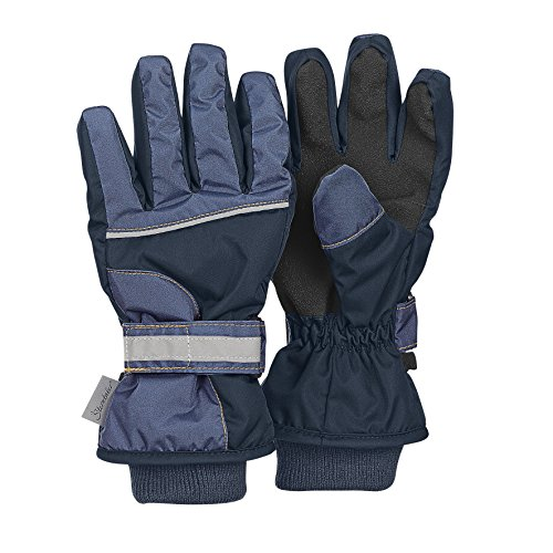 Sterntaler Jungen Fingerhandschuh Handschuhe, Blau, 4