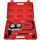 Kit de detector de pérdidas para cilindros de doble presión, cilindro comprobador Set, detectores de pérdidas de compresión para pruebas de cilindros de coche de motores de gasolina, con funda roja