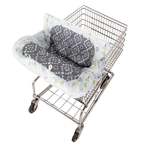 GO by Goldbug Southwest Reversible Shopping Cart and Restaurant High Chair Cover - Keeps Baby Cozy and Clean