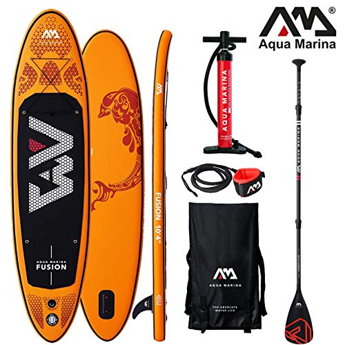 Aqua Marina Fusion 2019 Sup Board Hinchable Stand Up Paddle Tabla de Surf Remos
