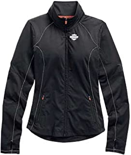 Womens Jacket, Bar & Shield Vented Performance, Black 99157-15VW
