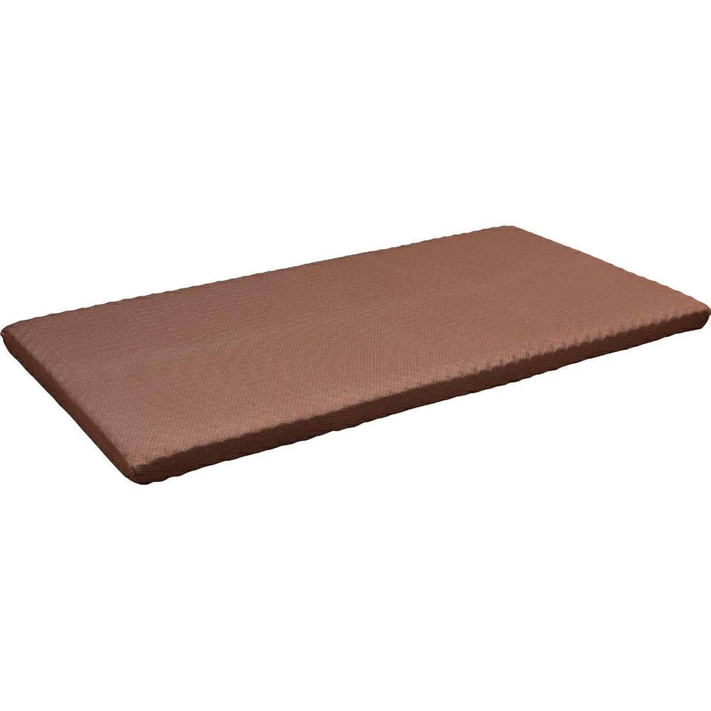 咲く季節活発アイリスプラザ マットレス ブラウン 厚さ 10cm 高反発 ウレタン 厚さ10cm 硬め 123