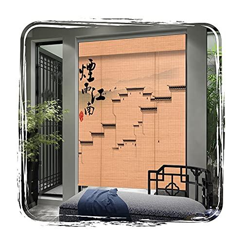 QIANDA Persiana De Bambú,Apagón Cortinas De Ventana con Tirón Lateral Filtrado De Luz por Sala Estudio Dividir Paño De Privacidad (Color : A, Size : 130x220cm)
