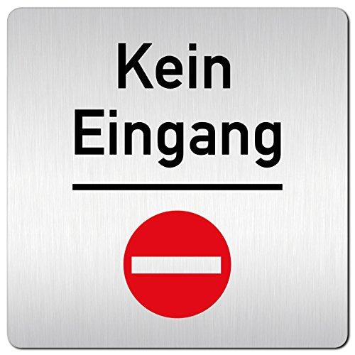 Kinekt3d Leitsysteme XXL Schild - Türschild • 125 x 125 mm • Kein Eingang Rot Stop • 1,5 mm Aluminium Vollmaterial • 100% Made in Germany