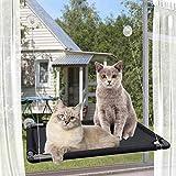 PTN Hamaca Gato, Cama Hamaca Cat Window Perch para Gatos Grandes Interior, Cama con Ventana para Gatos, Asiento Kitty Sunny, Cama con Asiento Percha para Mascotas Versión Mejorada 4 Ventosas Grandes