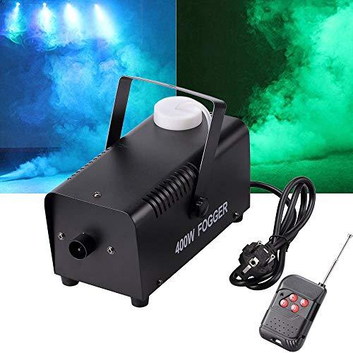 Nebelmaschine Schwarz | Tragbare 400-Watt-Nebelmaschine mit Funkfernbedienung | Geeignet für Weihnachten, Halloween, Party, Hochzeitsbühne