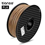 TIANSE PLA 3D Printer Filament,skin color wood pla,1.75mm pla filament, 1KG Spool Filament for 3D Printing, Dimensional Accuracy +/- 0.03 mm