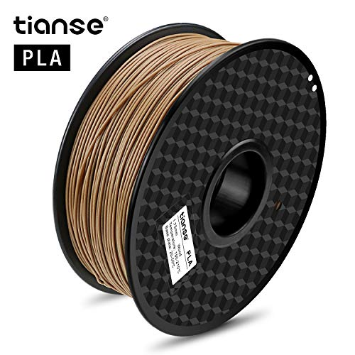 Price comparison product image TIANSE Wood PLA 3D Printer Filament 1.75mm 1KG Spool Filament for 3D Printing,  Dimensional Accuracy + / - 0.03 mm