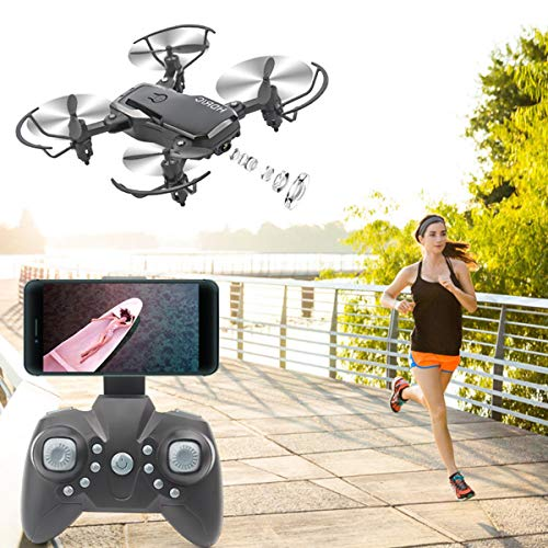 Faltbare FPV Drohne mit 4K Kamera für Erwachsene, 5G WiFi FPV-Drohne Live- Video für Anfänger, GPS Return Home | Double Shot Switching | 10 Minuten Flugzeit | Telefonsteuerung | Gestenfoto | VR Vision