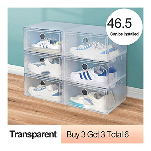 Tier Shoe Rack Shoe Tower Thickened dustproof Shoe Box Storage Box Transparent Drawer Shoe Storage Artifact Plastic Shoe Rack Shoe Cabinet Space Saving (Color : Transparent)