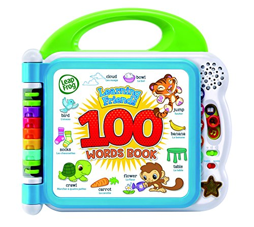 LeapFrog 601503 Learning Friends 100 Words Baby Book Educational and Interactive Bilingual Playbook Toy Toddler and Pre School Boys & Girls 1, 2, 3, 4+ Year Olds, Multi-Colour, One Size
