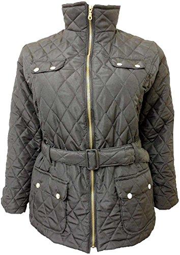 shelikes Womens gewatteerde Collared winterjas UK 8-26