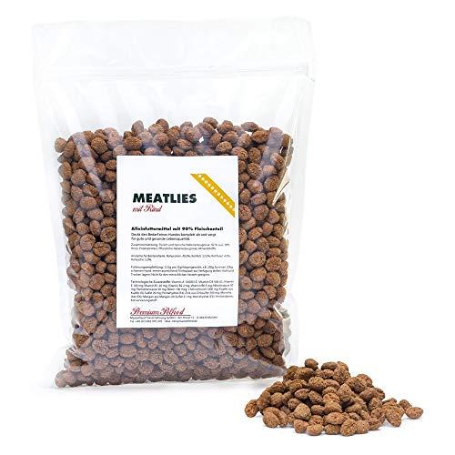 Masterfeed Meatlies Rind - Hundefutter mit 90% Landfleisch - Getreidefrei - 100% Natürlich Größe 1 kg
