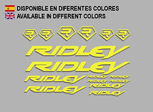 Ecoshirt 64-GUXR-A5TN Aufkleber Ridley Bike F133 Stickers Aufkleber Decals Autocollants Adesivi, gelb