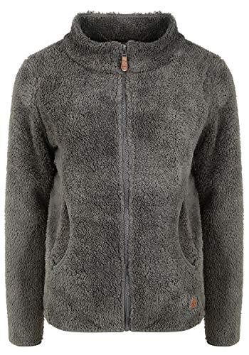 OXMO Telsa Damen Fleecejacke Sweatjacke Jacke, Größe:M, Farbe:Castlerock (799486)