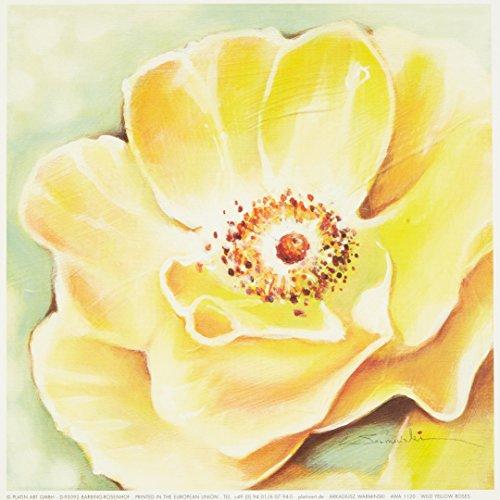 Eurographics AWA1120 wysokiej jakości druk artystyczny, Arkadiusz Warminski, dziki żółty róż 18 x 18 cm