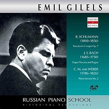 J.S. Bach, R. Schumann & Weber: Piano Works (Live)