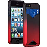 Case-Mate 日本正規品 iPhoneSE / 5s / 5 Barely There ID Case, Matte Royal Red ベアリーゼア ID ケース, マットロイヤルレッド 【カードホルダー つき】 CM025687