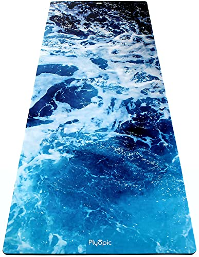 Plyopic All-Purpose Power Yoga Mat, The Ultimate Active and Power Yoga Mat With Revolutionary Sweat-Grip Fabric and Natural Rubber. Best...
