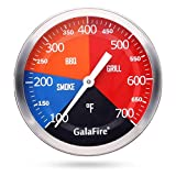 GALAFIRE 700 °F Grill Thermometer Replacement for Wood Smoker Charcoal Pit, 3 3/16 inch Large Face...