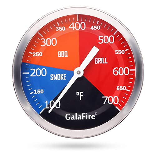 GALAFIRE 3 3/16 Inch BBQ Temperature Gauge for Smoker Wood Charcoal Pit,...