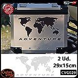 Custom Vinyl Pack 2 Pegatinas Globo para BMW R 1200 1150 1100 GS Adventure Cofre R GS ADV (Blanco)