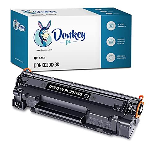 DONKEY PC Cartucho tóner Compatible para 201X CF400X Negro. Reemplazo para HP Color Laserjet Pro M252dw, M252n, M252, MFP M277dw, MFP M277n, MFP M277, MFP M274n, M274. 2.800 páginas Impresas.
