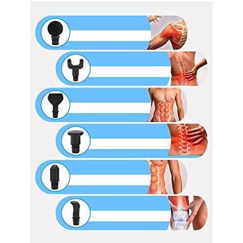 EVILDOE-R Handheld Electric Massage Gun, Deep Tissue Percussion Massager Cordless Muscle Massager 20 Speeds Setting Massage Device with 6 Massage Heads, Super Quiet for Deep Relaxation