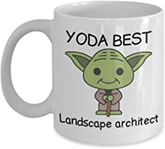 Novelty Gift Mug for Star Wars Fans - Yoda Best Landscape architect - Co-Workers Birthday Present, Anniversary, Valentines, Special Occasion, Dads, Moms, Family, Christmas - Funny Coffee Mug