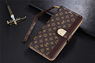 iPhone 11 Case, Classic Monogram PU Leather Wallet Case with Card Slots Magnet Clasp for iPhone 11