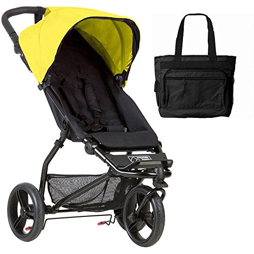 Great Deal! Mountain Buggy Mini V3.1 Stroller - Cyber with Diaper Bag