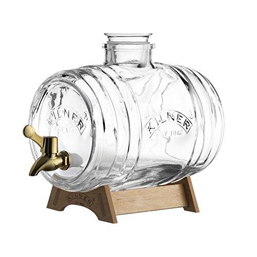 Kilner Dispensador de barril con grifo de latón, 1 litro, 24 x 12 x 25 cm