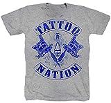 Tattoo Nation - Camiseta de manga corta, color gris gris XXL