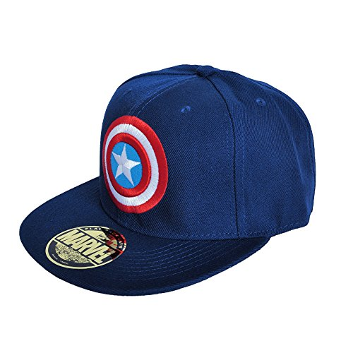 Captain America - Logo einstellbarer Cap Snap-Back Baseball Kappe Mütze Hut Original & Lizensiert