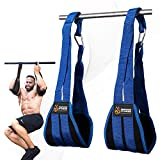 DMoose Fitness Hanging Ab Straps for Abdominal Muscle Building and Core Strength Training, Adjustable Arm...