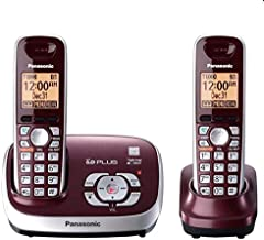 Panasonic KX-TG6572R DECT 6.0 Cordless Phone with Answering System, Wine Red, 2 Handsets photo