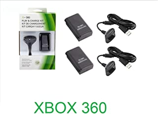 Kit 3 Baterias Carregadores Play/charge Controle Xbox 360 98.000mAh