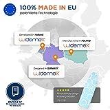 Widemex Exklusiver 5-Lagen Bügelbrettbezug inkl. 4 Spannclips | Bezugsgröße 115 x 35 cm (S) | Obermaterial widerstandsfähig und aus 100% Baumwolle | Made in Europe - 6